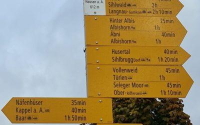 Wanderung über den Albis (Albispasshöhe–Albishorn–Ebertswil)